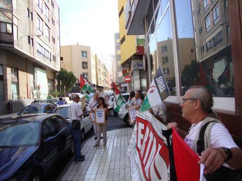 Protesta del Frente ante el Consulado en Las Palmas. (Fotografía bajo licencia de Creative Commons).