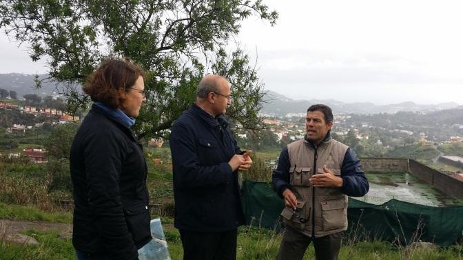 El alcalde de Santa Brígida, José Armengol Martín, acudió personalmente con personal municipal y del Cabildo de Gran Canaria
