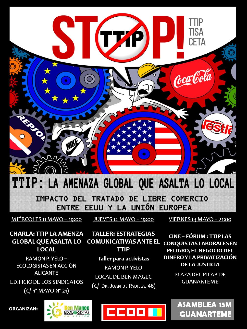 CARTEL CAMPAÑA TTIP GC