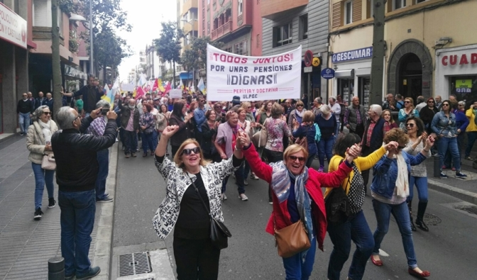 Miles y miles de personas salieron a la calle por unas Pensiones Dignas